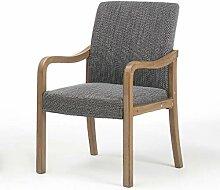 HURONG168 Küchenstühle Massivholz Esstisch Stuhl
