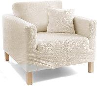 Husse Crincle, beige (3-Sitzer-Sofa 170-220 cm)