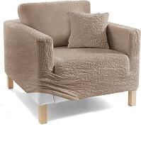 Husse Crincle, beige (Sessel mit Armlehnen 80-100 cm)