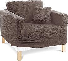 Husse Crincle, braun (Sessel mit Armlehnen 80-100 cm)