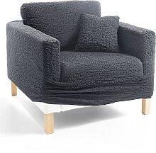 Husse Crincle, grau (Sessel mit Armlehnen 80-100 cm)