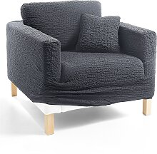 Husse Crincle, grau (Sessel mit Armlehnen 80-100