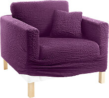 Husse Crincle, lila (3-Sitzer-Sofa 170-220 cm)