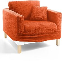 Husse Crincle, orange (Sessel mit Armlehnen 80-100