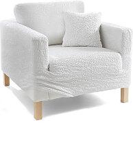 Husse Crincle, weiß (2-Sitzer-Sofa 130-160 cm)