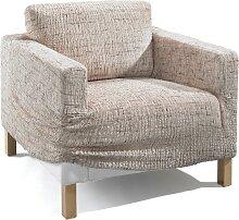 Husse Ela, beige (Sessel mit Armlehnen 80-100 cm)