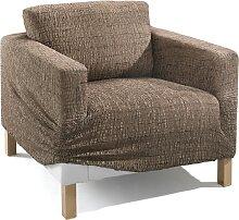 Husse Ela, braun (Sessel mit Armlehnen 80-100 cm)