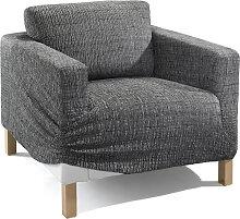 Husse Ela, grau (Sessel mit Armlehnen 80-100 cm)