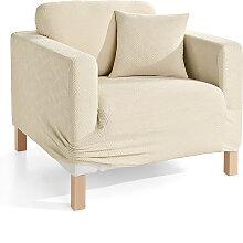 Husse Ethno, beige (2-Sitzer-Sofa 160 cm)