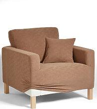 Husse Ethno, beige (Sessel 80-100 cm)