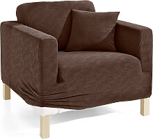 Husse Ethno, braun (2-Sitzer-Sofa 160 cm)
