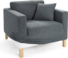 Husse Ethno, grau (3-Sitzer-Sofa 200 cm)