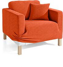Husse Ethno, orange (2-Sitzer-Sofa 160 cm)