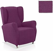 Husse für Ohrensessel Minerva Grösse 1 Sitzer, Standardgröss Farbe Malve (mehrere Farben verfügbar)