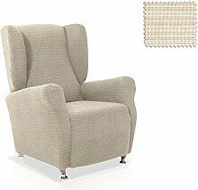 Husse für Ohrensessel Vulcano Grösse 1 Sitzer, Standardgröss Farbe Elfenbein (mehrere Farben verfügbar)