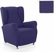Husse für Ohrensessele Minerva Farbe Blau Standardgröss (mehrere Farben verfügbar)