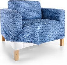 Husse Saturno, blau (Sessel mit Armlehnen 80-100 cm)