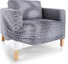 Husse Saturno, grau (Sessel mit Armlehnen 80-100 cm)