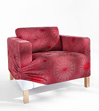 Husse Strahlen, rot (Sessel mit Armlehnen 80-100 cm)