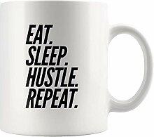 Hustler Geschenk Essen Schlaf Hustle