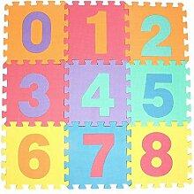 Hutiee Kinder EVA Puzzle Matte 10 Stücke, Tier