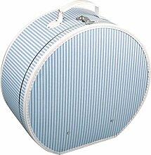 Hutschachtel blau/weiß gestreift 40 cm