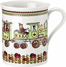 """Hutschenreuther 02013-722936-15571 Porzellan-Becher mit Henkel """"Eisenbahn"""", groß, 0,37 L"""