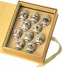 Hutschenreuther Setzkasten mit 10 Mini-Eier, Bunt,