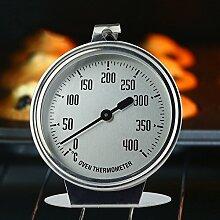 HUVEEdelstahl Ofenthermometer 0-400 °C, Bimetall,