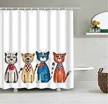 HUYHUY Digitaldruck Bad Vorhang Polyester