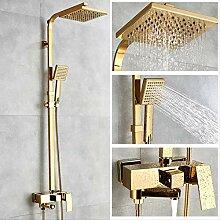 HUYUE duschbadewanne armaturen luxus gold messing