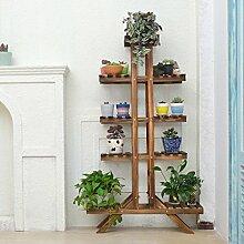 HUYYA Blumenregal Blumenbank Blumenständer, Holz
