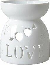 HwaGui Ölwärmer Romantic Love Pattern Kerze