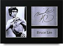 HWC Trading Bruce Lee signierter A4gedrucktem