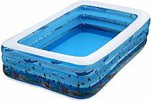 HWF Inflatable Bathtub Aufblasbare Schwimmbecken Kinder Falten Aufblasbare Badewanne Haus ( größe : 262cm )