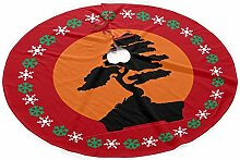 Hwgss Bonsai Tree Christmas Tree Skirt,Tree Skirt