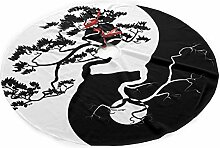 Hwgss Bonsai Tree Yin Yang Christmas Tree