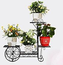 HWHJ Blumen-Rahmen Eisen DIY mehrstöckigen Boden zu verbringen ein paar grüne Palisander Orchidee Bonsai Rahmen Pflanze Regal einfach Regal Lagerung Regal Balkon Wohnzimmer Innen-und Außenbereich Kreative Blumenregale ( Farbe : Black2 )