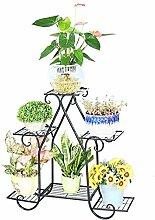 HWHJ European-style Schmiedeeisen Boden Blumentopf Regal, Pflanze Stand, Blume Rack Für Balkon, Wohnzimmer, Indoor Kreative Blumenregale ( Farbe : C , größe : S )
