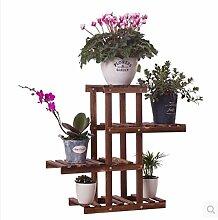 HWHJ Flower Rack, Multi-Layer-Montage Blumentopf Rack, Holz Blume Rack, Wohnzimmer Balkon Boden-Stil Einfache Bonsai-Rahmen, Boden Europäische Blumen Regal Kreative Blumenregale ( Farbe : 1* )