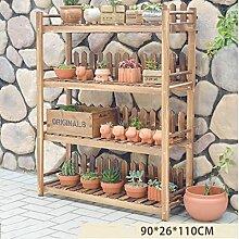 HWHJ Massivholz Blumenständer Mehrgeschossiger Standfuß Hölzerner Blumenrahmen Balkon Wohnzimmer Blumenständer Indoor Blumen Regal Kreative Blumenregale ( größe : XXXL )