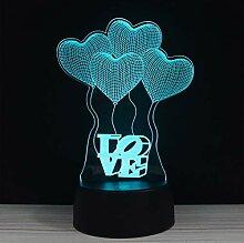 HWJKCP Bunt Berühren Sie 3D Nachtlicht LED