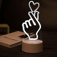 HWJKCP Creative 3D Nachtlicht LED Geschenk Licht