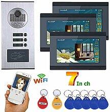 HWMYA 7inch verdrahtete WiFi 3 Wohnung/Family
