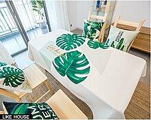 HXC Home 110 * 170cm beige grün Blatt