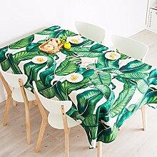 HXC Home 140 * 100cm Grün Blatt Banane Blatt