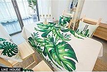 HXC Home 140 * 140cm grün beige Blatt