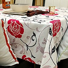HXC Home 140 * 180cm Rot Weiß Rose Landhaus