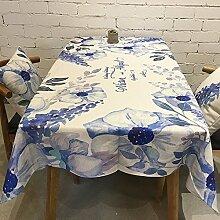 HXC Home 140 * 200cm blau Geblümt Skandinavisch