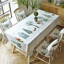 HXC Home beige Elch Forst Tischdecken Tischtuch